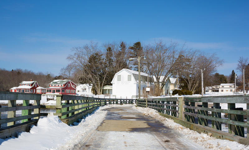 Searsport码头冬天 库存图片