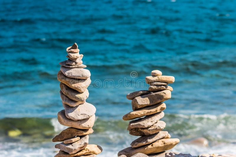 Seas Stones. On a beach royalty free stock photo