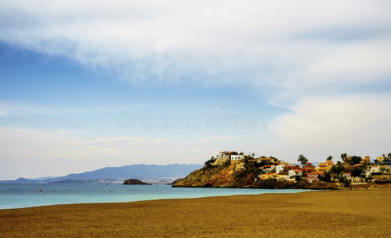 Seascape από Bolnuevo, Murcia, Ισπανία στοκ εικόνα με δικαίωμα ελεύθερης χρήσης