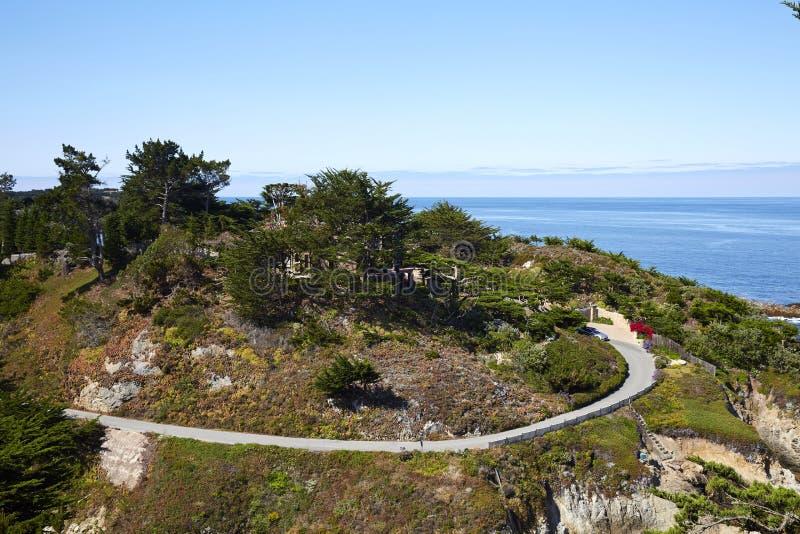 Seascape, εθνική οδός ένα, Καλιφόρνια στοκ φωτογραφία