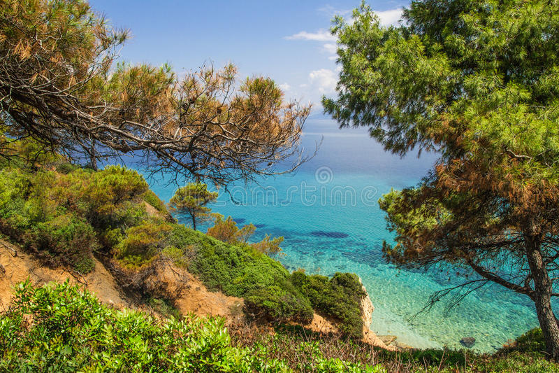 Seascape σε Kassandra, Halkidiki στοκ φωτογραφία με δικαίωμα ελεύθερης χρήσης