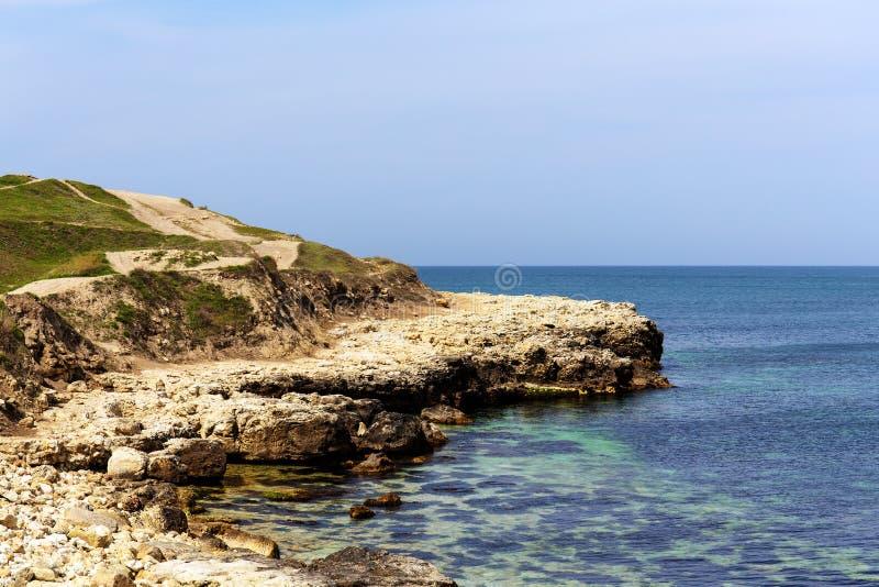 Seascape στην ακτή στοκ εικόνες