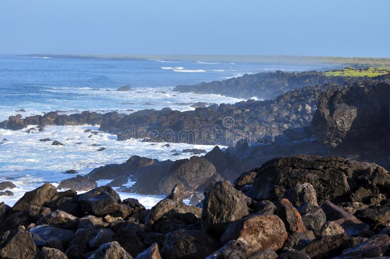 Seascape της Misty Galapagos νησιά Ισημερινός στοκ φωτογραφία με δικαίωμα ελεύθερης χρήσης