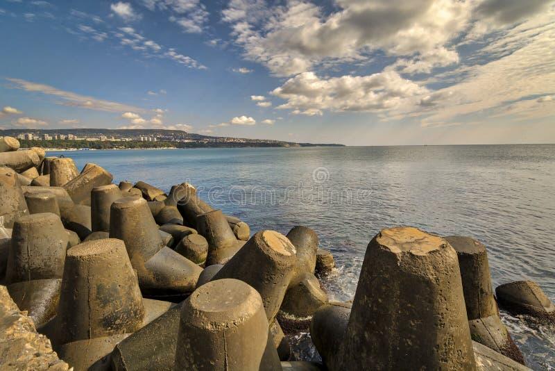 Seascape Варны стоковое изображение