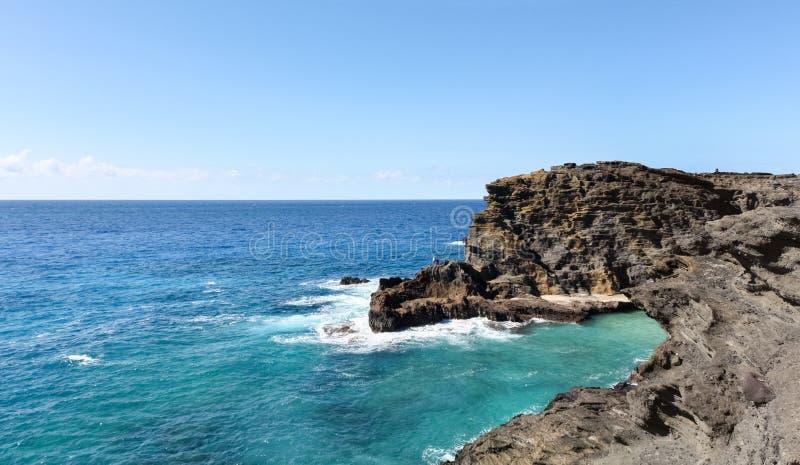 Seascape Гавайских островов стоковая фотография rf