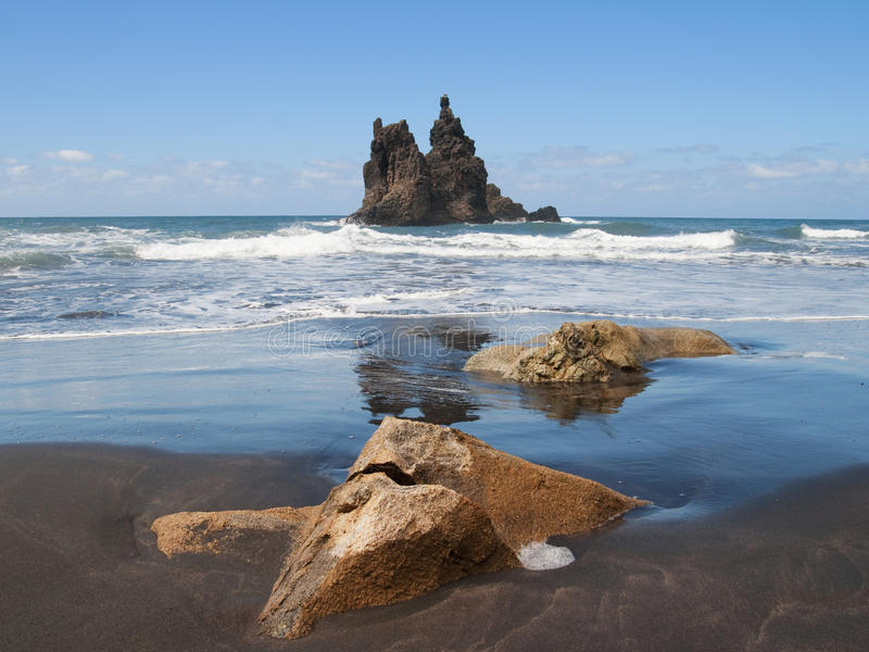 Seascape на Anaga стоковая фотография rf