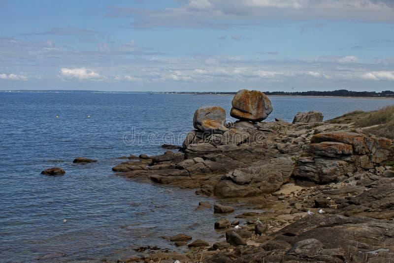 Seascape около Pointe de Trevignon стоковая фотография