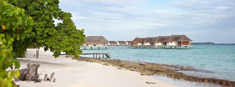 seascape панорамы Мальдивов landaa giraavaru стоковая фотография rf
