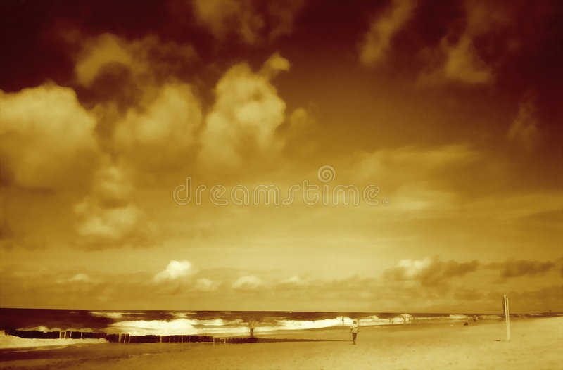 Download Seascape stock photo. Image of sepia, vacation, pile, ocean - 6604