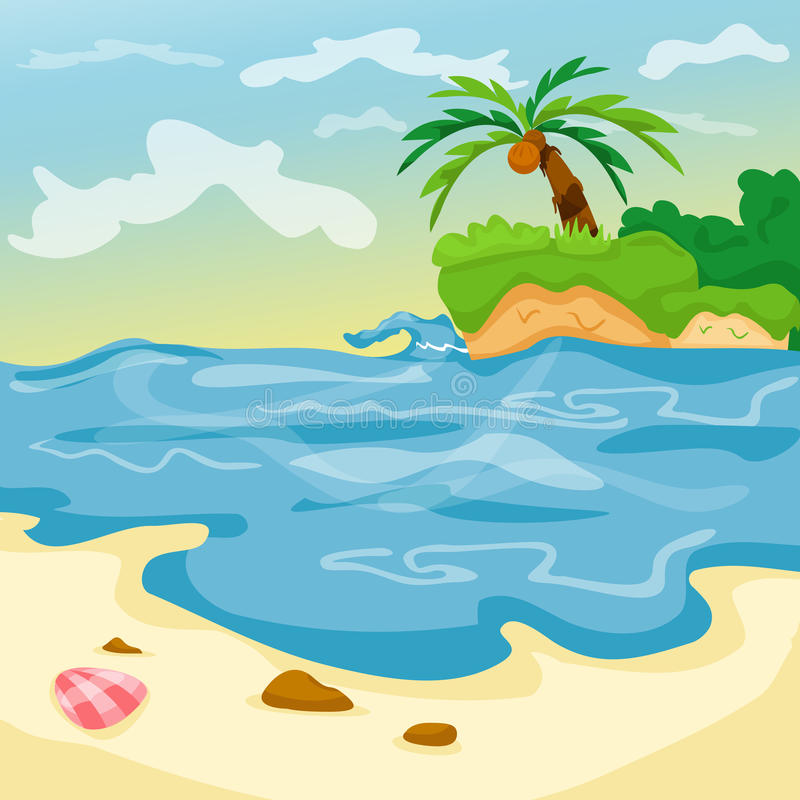 Seascape stock illustration