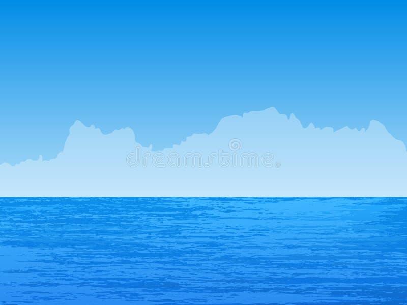 Seascape ilustração royalty free