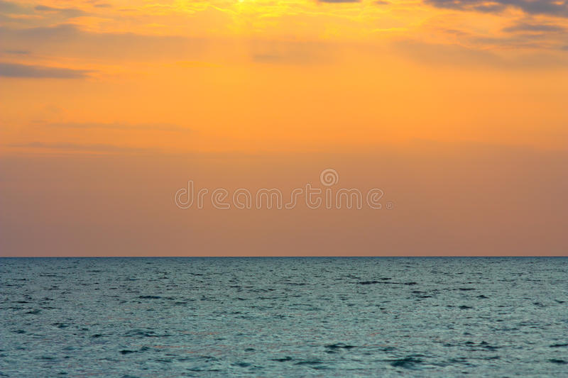 Download Seascape stock photo. Image of sunset, horizons, yellow - 21520746