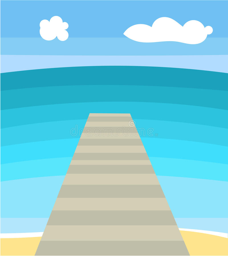 Download Seascape stock vector. Illustration of horizon, blue - 24311518