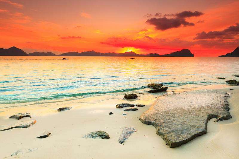 Download Seascape stock photo. Image of beautiful, cloud, background - 25816636