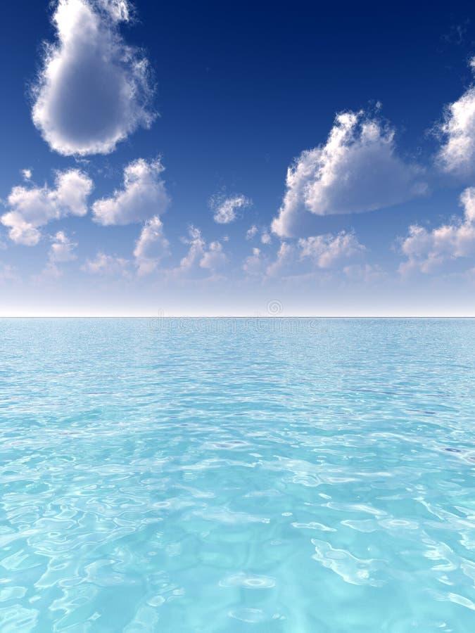 Download Seascape 3 stock illustration. Image of scene, clouds - 5115177