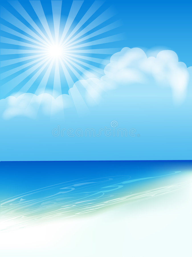 Download Seascape stock vector. Image of sunset, holiday, pure - 8070955
