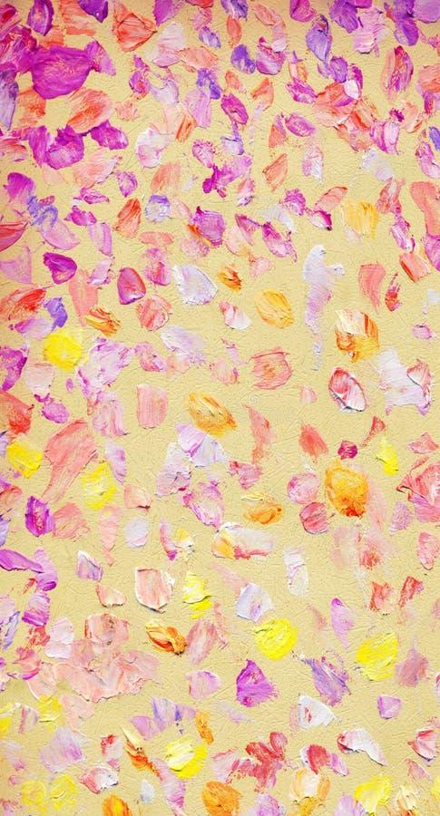 Seascape abstrato do óleo Por do sol romântico sobre o mar ilustração do vetor