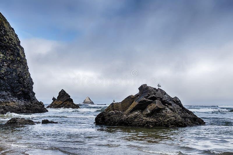 Seascape am Arch Cape lizenzfreies stockbild