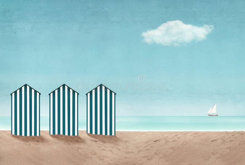 Seascape artístico fotos de stock royalty free