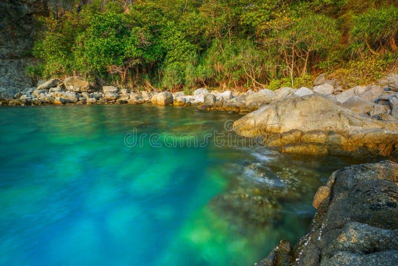 Seascape av Phuket, Thailand arkivfoton