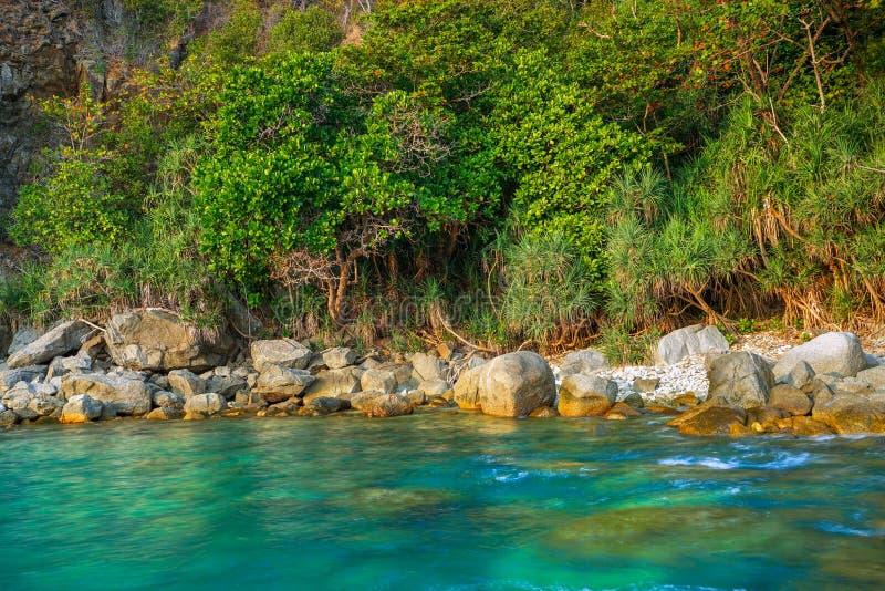 Seascape av Phuket, Thailand royaltyfri foto