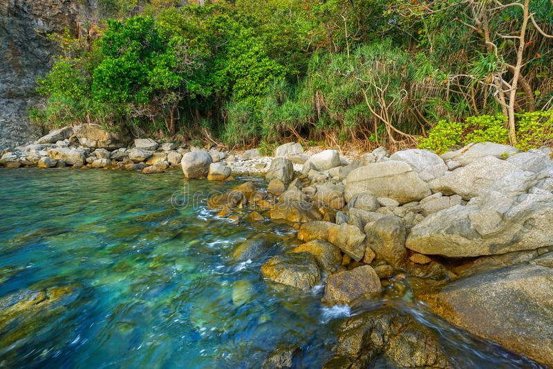 Seascape av Phuket, Thailand royaltyfri bild