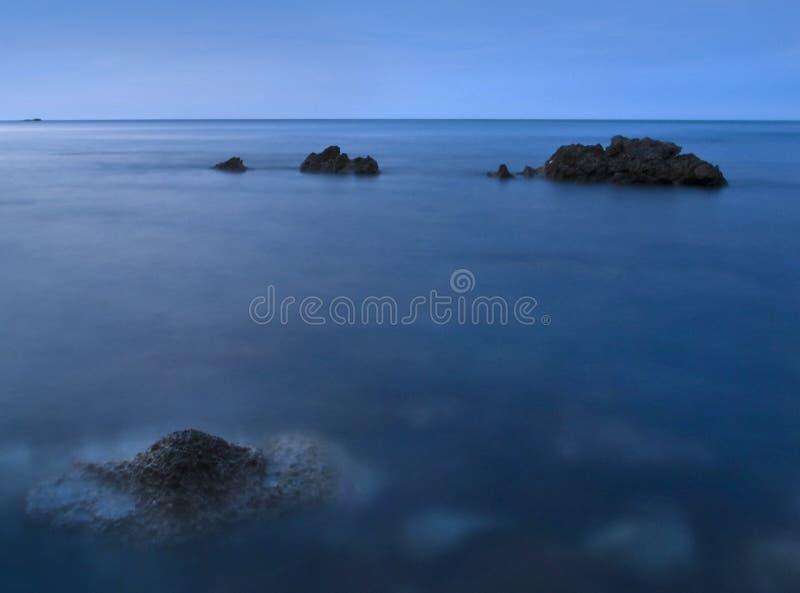 Seascape azul imagem de stock royalty free