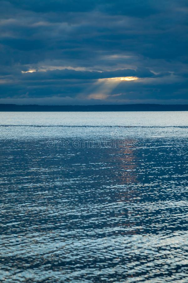 A seascape background with an interesting sky stock photos