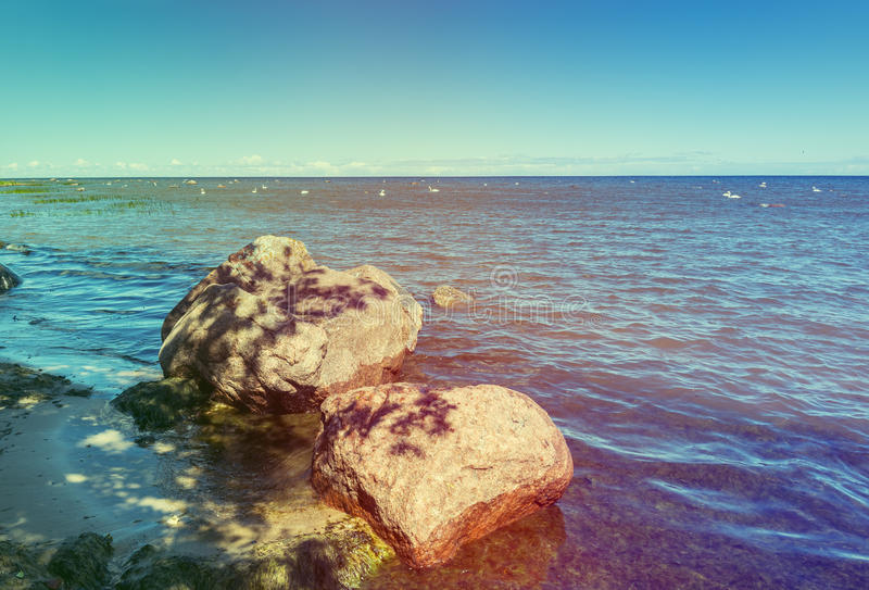 Seascape of the Baltic Sea, Latvia royalty free stock images