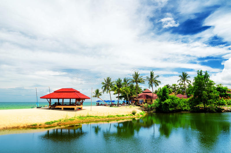 Samui Island, Thailand. Beautiful tropical landscape. Samui Island, Thailand stock photo