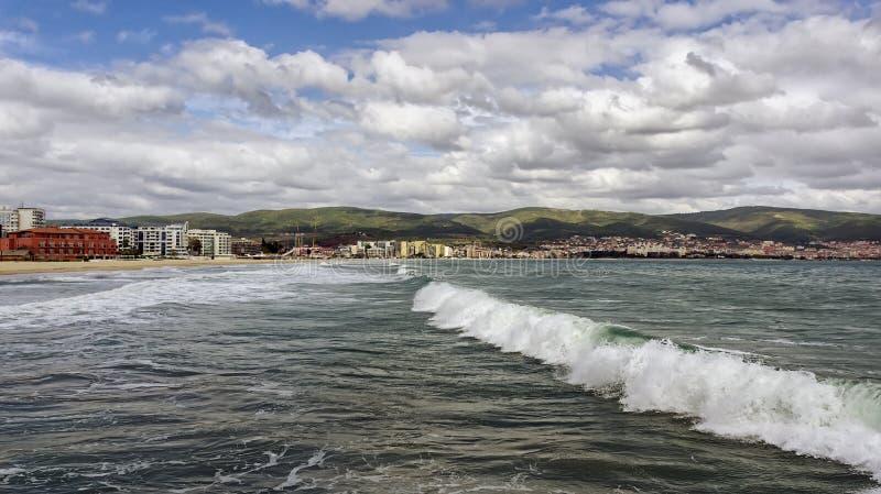 Seascape Black Sea royaltyfria bilder