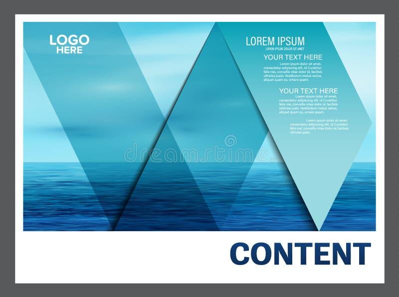 Seascape and blue sky presentation layout design template background for tourism travel business. illustration stock illustration