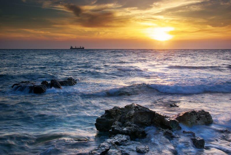Seascape bonito. foto de stock royalty free