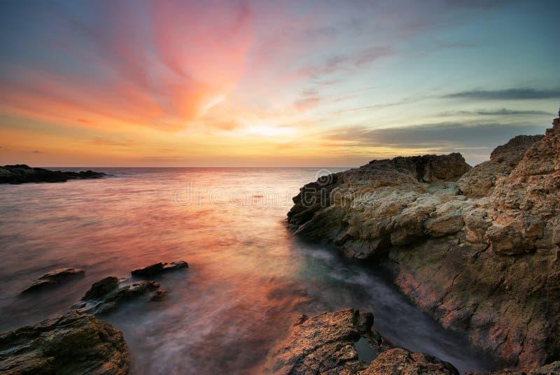 Seascape bonito. imagem de stock