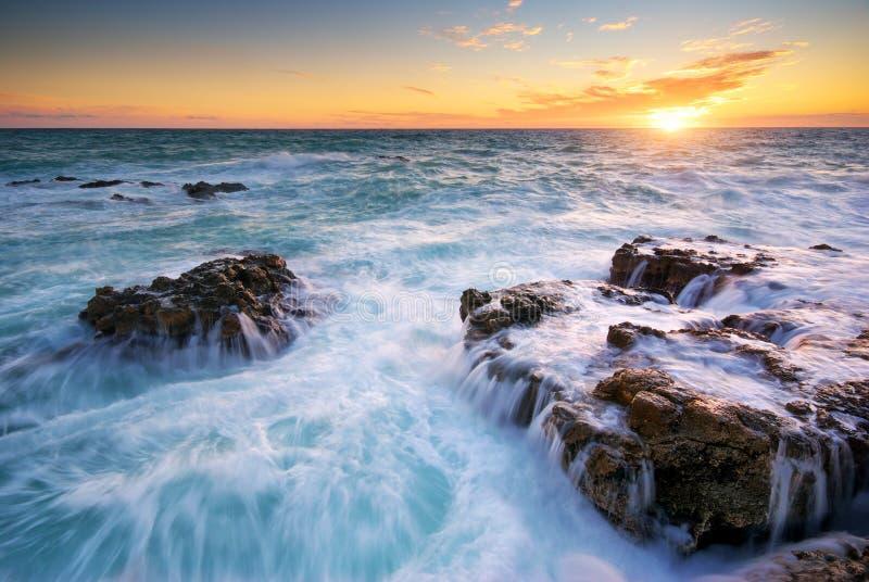 Seascape bonito imagem de stock