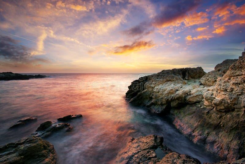 Seascape bonito. imagens de stock royalty free
