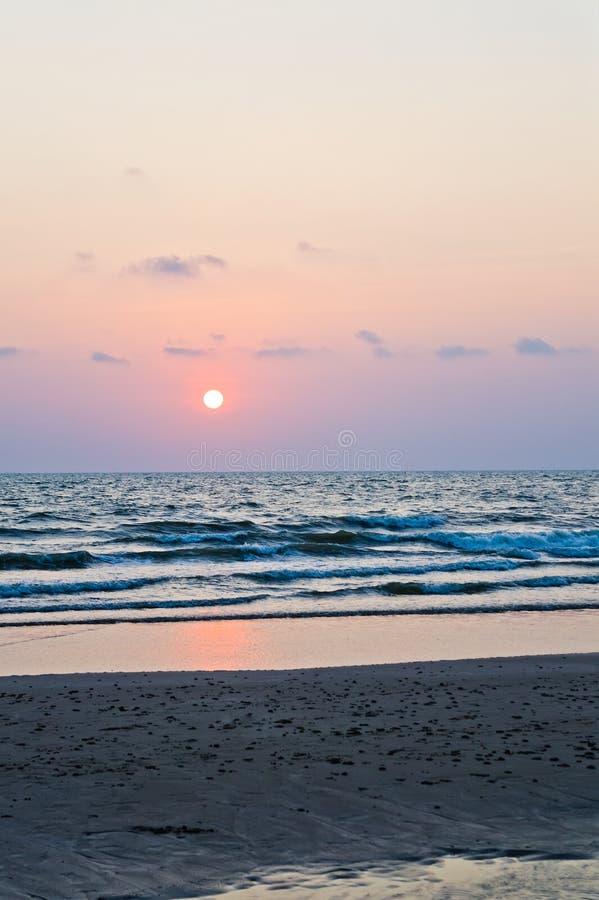 Seascape bonito Composição natural do vetor imagem de stock royalty free