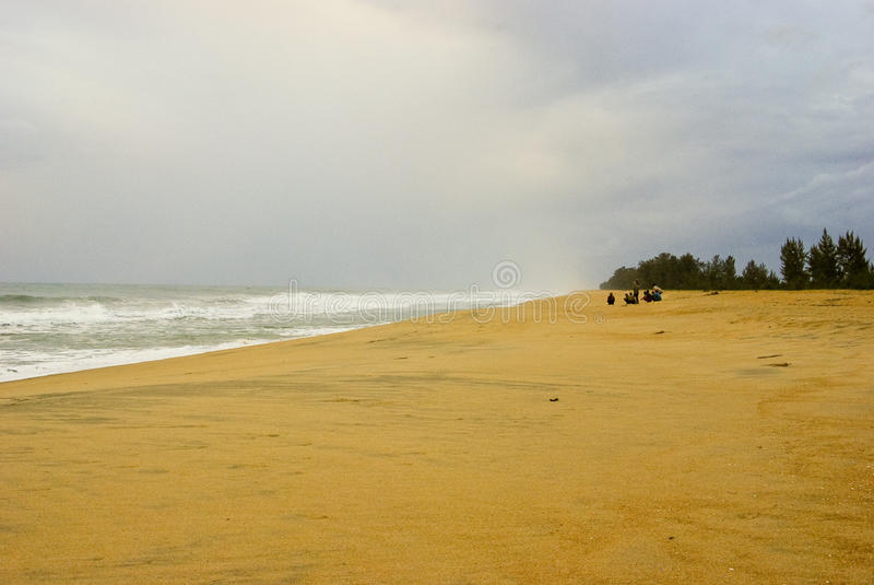 Seascape bonito no por do sol foto de stock