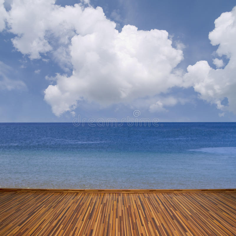 Download Seascape with clouds stock photo. Image of empty, background - 31896554