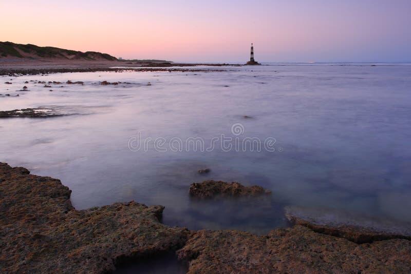 Seascape com baliza foto de stock