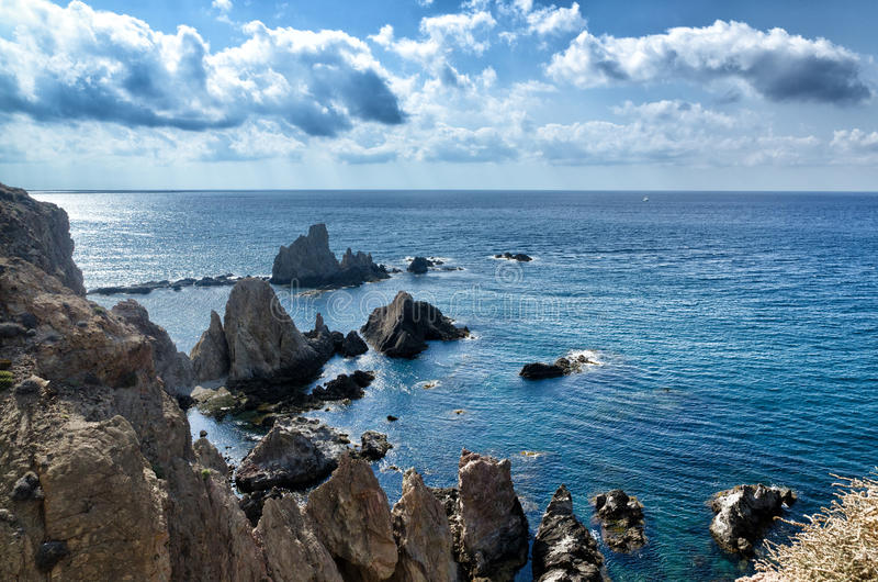 Seascape com recife foto de stock royalty free