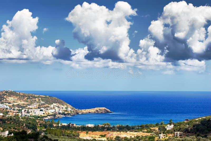 Seascape. Console de Crete fotografia de stock