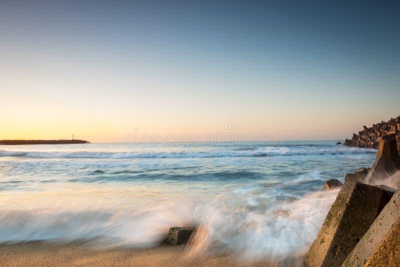 Seascape da baía de Richards foto de stock