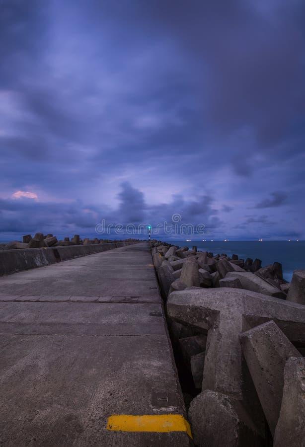 Seascape da baía de Richards fotos de stock