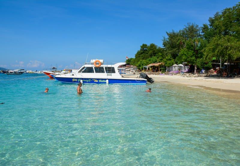 Seascape da ilha de Lombok, Indonésia fotografia de stock royalty free