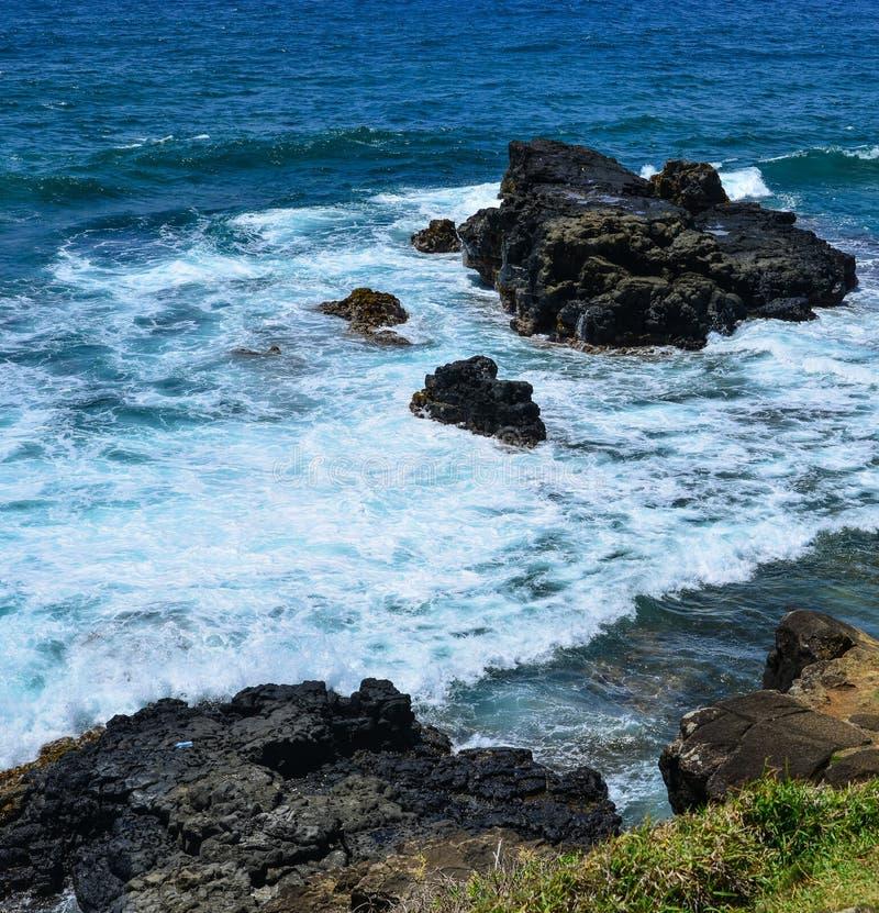 Seascape de Le Morne no verão em Maurícias foto de stock royalty free
