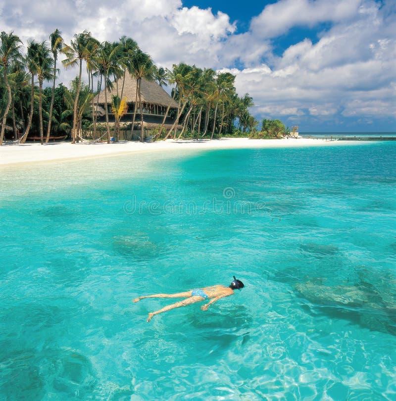 Seascape de Maldives imagens de stock royalty free