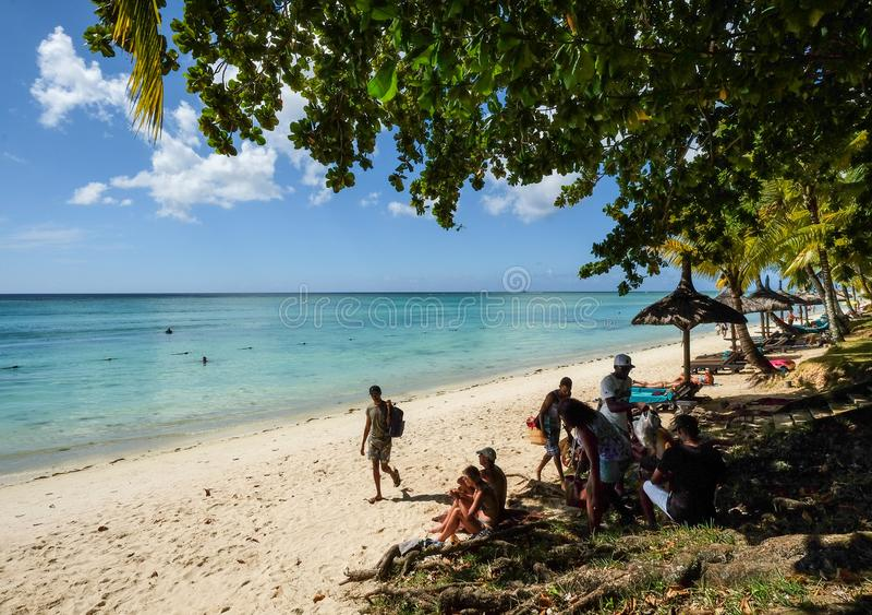 Seascape de Mauritius Island foto de stock