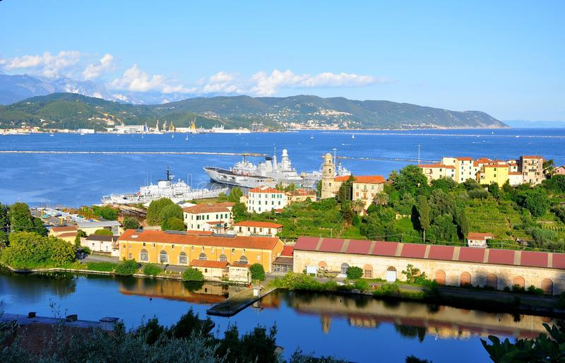 Seascape de Spezia do La, Italy fotografia de stock royalty free