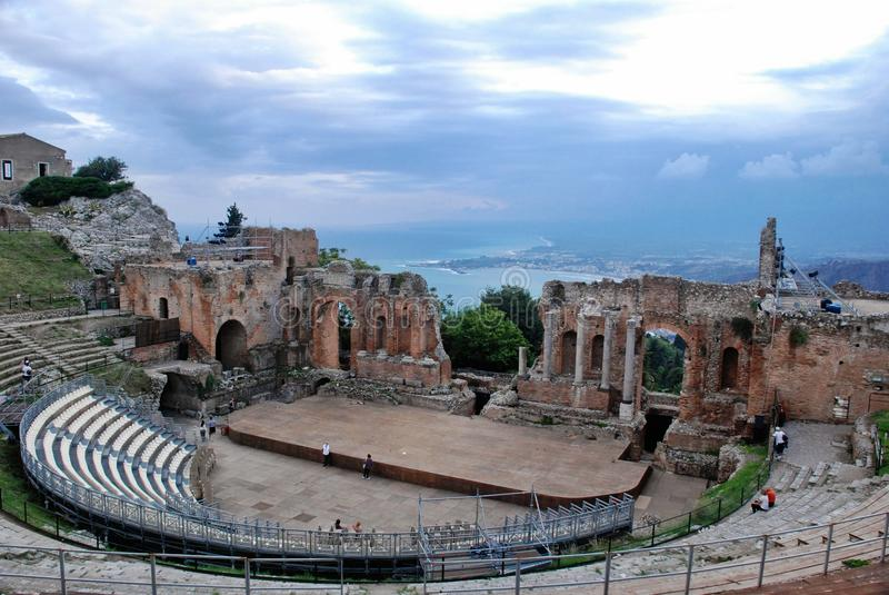 Seascape de Taormina fotografia de stock royalty free